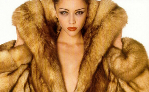 woman wearing fur
