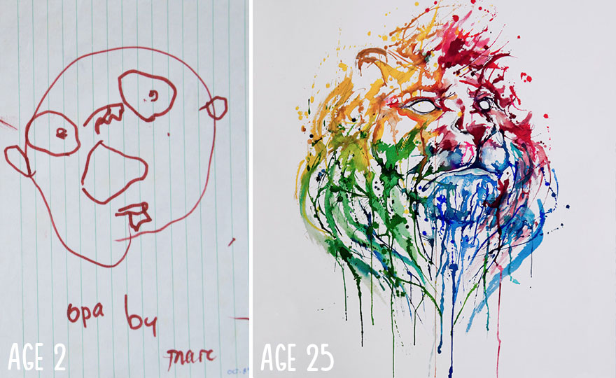 10 Before And After Drawings Proving That Practice Makes