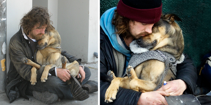 15 Touching Photos Showing The Love Bonding Between The Homeless And Their Dogs thumbnail