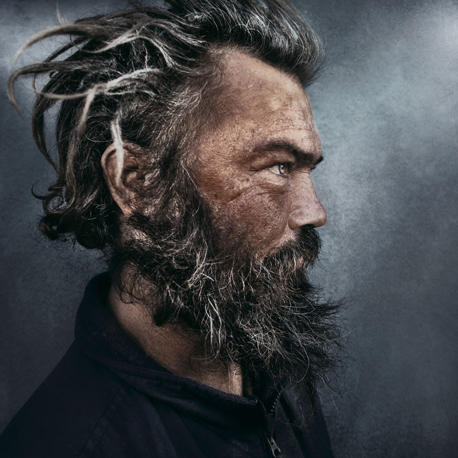 Photographer Captures Gripping Portraits Of Homeless