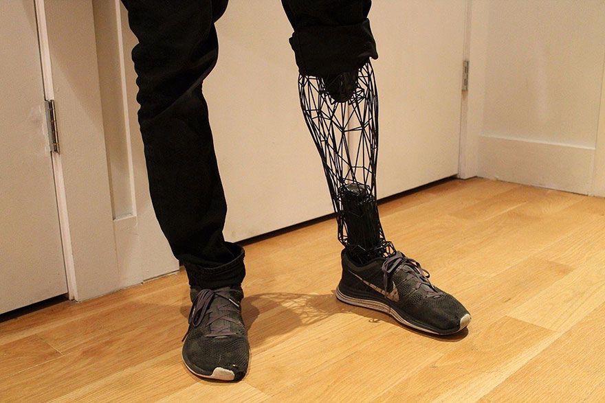 Industrial Designer Creates Futuristic Prostheses With The Help Of A 3D Printer thumbnail