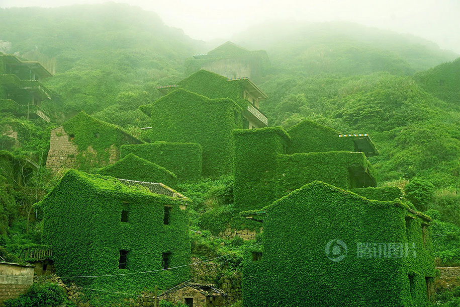 Mother Nature Takes Back What Was Once Hers By Covering Abandoned Houses In A Chinese Village thumbnail