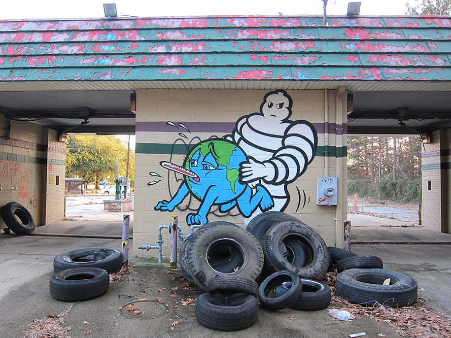 These Street Artists Remind Us Of The Most Disturbing Truth – The Ongoing Destruction Of Earth thumbnail