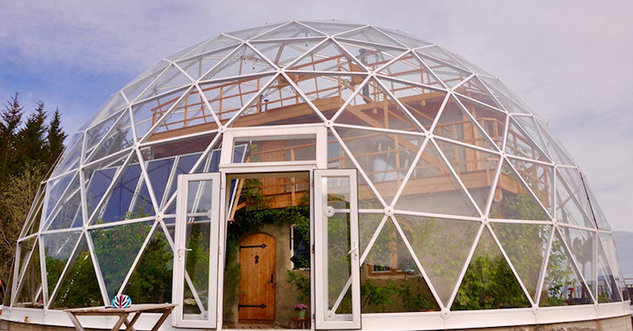Family Lives In A Cob House Under A Futuristic Geodesic Dome In The Arctic Circle