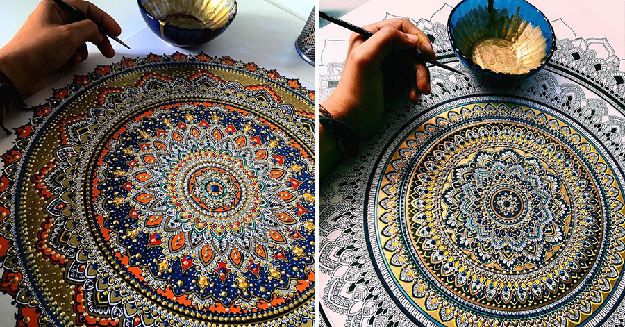 This Artist Brings Hyper-Complex Mandalas To Life That Look Truly Majestic thumbnail