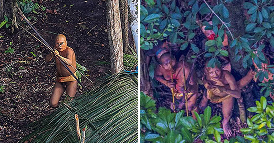 Photographer Accidentally Captures Isolated Amazon Tribe Untouched By Our Civilization thumbnail