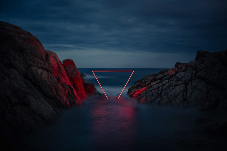 Artist Uses Clever Light Installations To Add A Soft Touch Of Red To The Spanish Countryside thumbnail