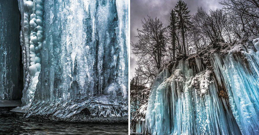Photographer Shoots Captivating Images Of Extraordinary Frozen Waterfalls In Croatia thumbnail