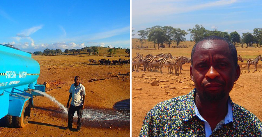 Man Drives For Hours Everyday To Bring Wild Animals Fresh Water And Keep Them From Dying thumbnail