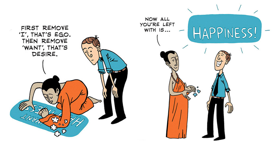 10 Comics That Tell You The Secret About Happiness And Where Not To Search For It