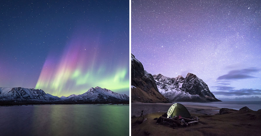 He Traveled Through Norway & Experienced The Jaw-Dropping Light Show Of A 5-Billion-Star Hotel thumbnail