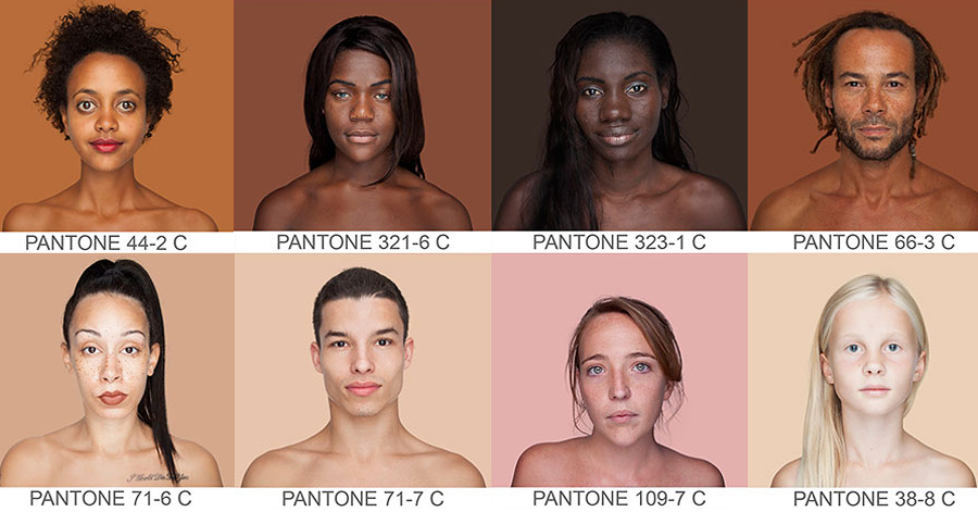 Photographer Shows The True Diversity Of Skin Color By Capturing People Pantone Style