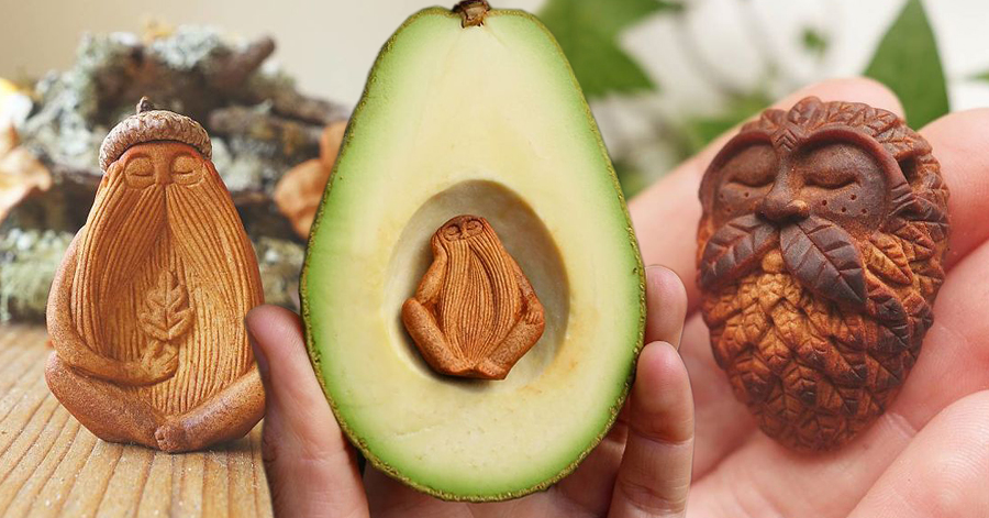 Irish Artist Uses Avocado Pits To Create Unique & Peaceful Looking Pieces Of Art thumbnail