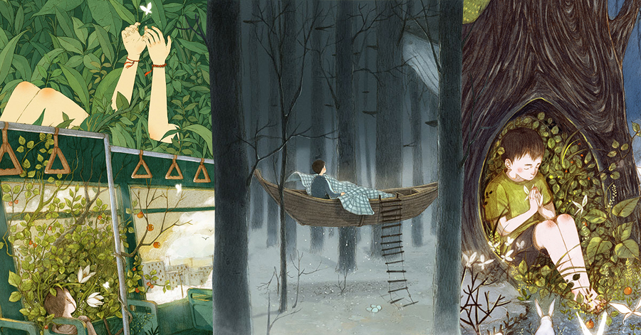 Artist Depicts The Eternal Connection Of Humans And Nature In Wonderful Dreamy Illustrations thumbnail