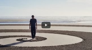He Draws Giant Geometric Masterpieces In The Sand Before The Tide Washes Everything Away