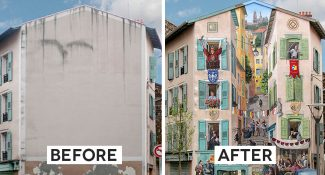 French Artist Touches Up The Walls Of Dull Buildings With Hyper-Realistic Paintings